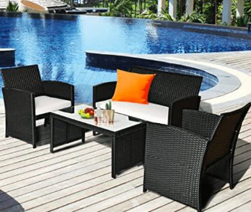 Rattan Outdoor Seating Set with Cushions