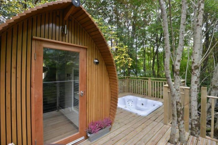 Romantic Getaway Glamping Pod for 2 with hot tub