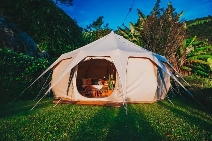diy glamping backyard