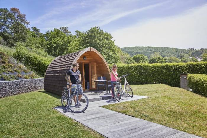 Glamping in Kaul Camping Park, Luxembourg