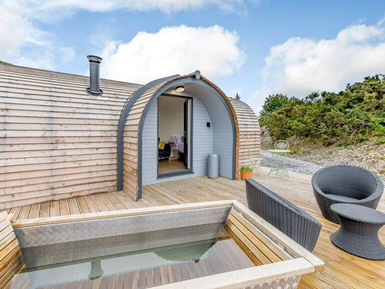 glamping with hot tub north wales